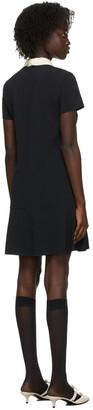 RED Valentino Black Frisottine Collar Dress