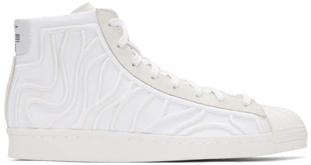 Y-3 White Shishu Super High-top Sneakers