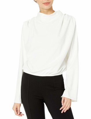 ASTR the Label Women's Amelia Long Bell Sleeve High Neck Top