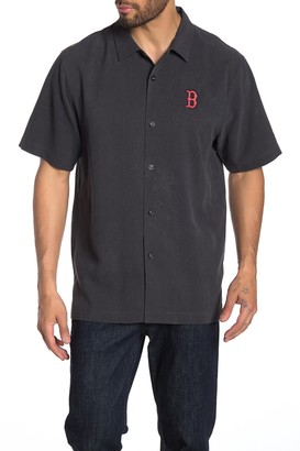 Tommy Bahama MLB(R) Top Of The Ninth Silk Regular Fit Camp Shirt