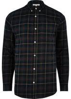 River Island MensGreen casual check shirt