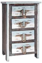 Stylecraft 4 Drawer Distressed Wood Chest - Distressed Gray