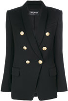 Balmain button-embellished blazer - women - Cotton/Viscose/Wool - 36