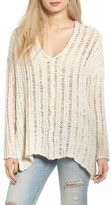 Astr Women's Open Knit Sweater