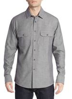 Vince Camuto Regular-Fit Cotton Twill Sportshirt