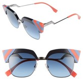 Fendi Women's 50Mm Cat Eye Sunglasses - Blue