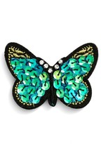 Cara Women's Sequin Butterfly Pin