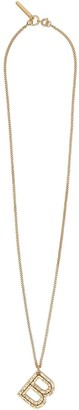 Burberry B alphabet charm necklace