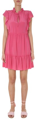 RED Valentino Dress With Flounds