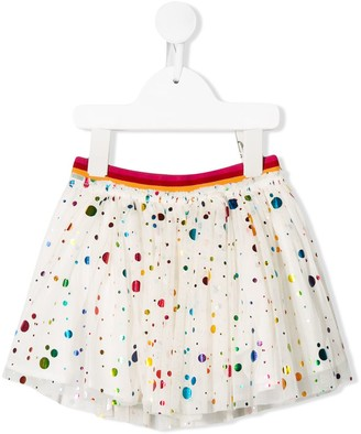 Stella Mccartney Kids Spotted Tulle Skirt