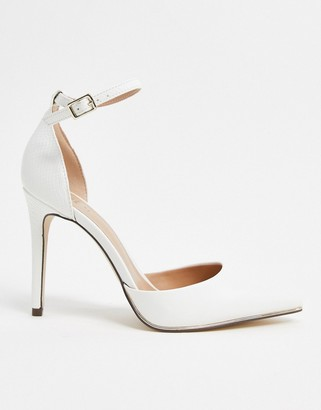 Call it SPRING by ALDO Iconis heeled pumps with ankle strap in white