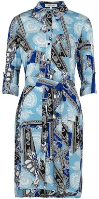 Diane von Furstenberg Prita printed silk crepe de chine shirt dress