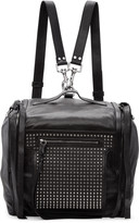 McQ by Alexander McQueen Black Convertible Box Backpack