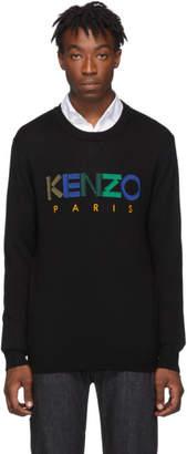 Kenzo Black Wool Paris Sweater
