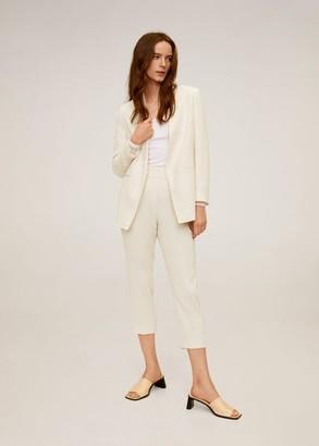 MANGO Crepe blazer ecru - XS - Women