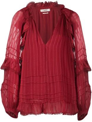 Etoile Isabel Marant Striped Peasant Blouse