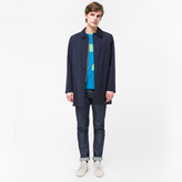 Paul Smith Men's Navy Loro Piana Storm System® Wool Mac With Detachable Liner