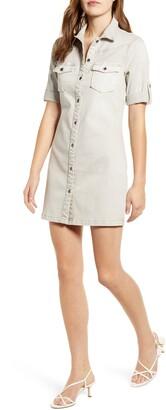 Wash Lab Jean Style Short Sleeve Shirtdress
