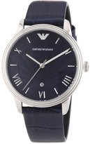 Emporio Armani Men's Classic AR1651 Leather Quartz Watch with Dial