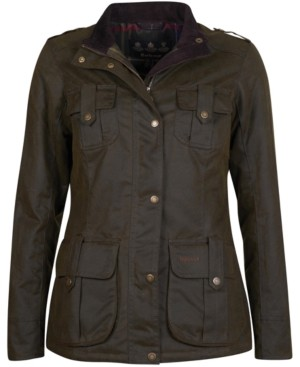 Barbour Winter Defense Four-Pocket Waxed Cotton Coat