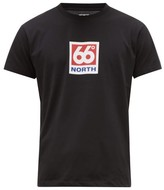 66°North 66North - Klambratun Logo-print T-shirt - Mens - Black