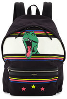 Saint Laurent Men's Dinosaur Canvas Backpack