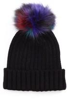BP Women's Multicolor Pompom Beanie - Black