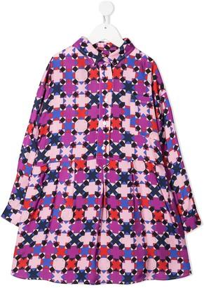 Emilio Pucci Junior Geometric-Print Shirt Dress