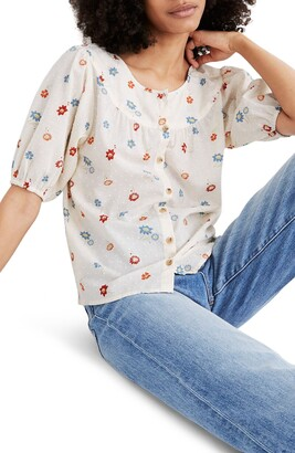 Madewell Prose Dotted Floral Heyday Shirt