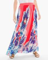 Chico's Tropical Floral Maxi Skirt
