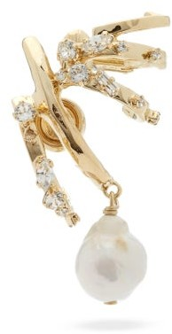Givenchy Baroque-pearl Drop Single Earring - Gold