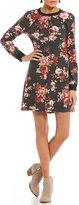 Teeze Me Floral-Printed Sweatshirt Dress