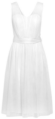 Dorothy Perkins Womens Showcase White Bridal 'Faith' Tulle Midi Dress, White