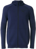 Puma ribbed detail zipped hoodie - men - Cotton/Nylon - S
