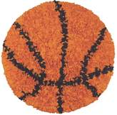 The Rug Market Shaggy Raggy Basketball Children's Area Round Rug-3-Feetx3-Feet, Brown/Black