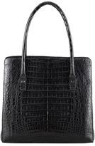 Nancy Gonzalez Crocodile Shoulder Tote Bag, Black