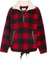 Etoile Isabel Marant Gilas Plaid Brushed Wool-blend Jacket - Red