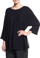 eskandar Sideways-Knit Cashmere 3/4-Sleeve Sweater