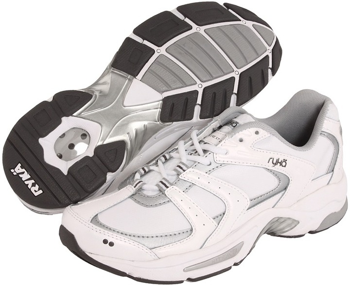 Ryka Endure XT 2 (White/Chrome Silver/Metallic Steel Grey) - Footwear