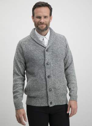 Tu Grey Twist Shawl Collar Cardigan