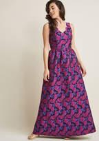 ModCloth Sleeveless Jacquard Maxi Dress in XS - A-line