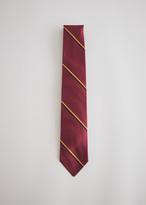Beams Silk Wide Regular Tie in Burgundy