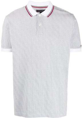 Tommy Hilfiger Dotted Pattern Polo Shirt