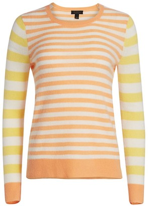 Saks Fifth Avenue Stripe Cashmere Sweater