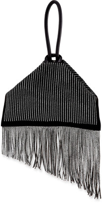 Christian Louboutin Berlinguinio Strass Fringed Suede Clutch Bag