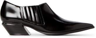 Calvin Klein Black Neta Leather Ankle Booties
