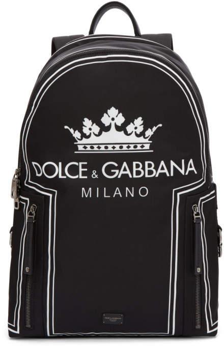 Dolce & Gabbana Black Logo Backpack