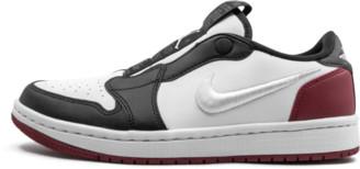 Jordan Womens Air 1 Ret Low Slip 'BLACK TOE' Shoes - Size 10W