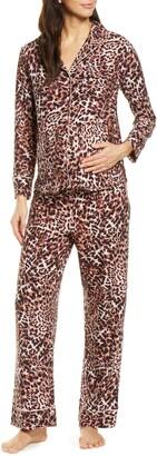 Belabumbum Leopard Maternity/Nursing Pajamas