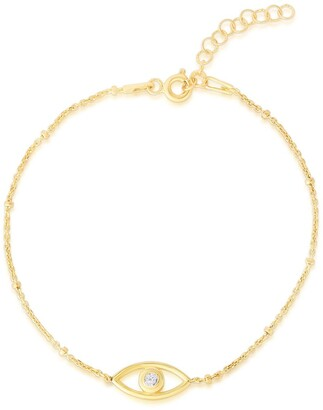 Sphera Milano 14K Gold Plated Sterling Silver Cutout Evil Eye Bracelet